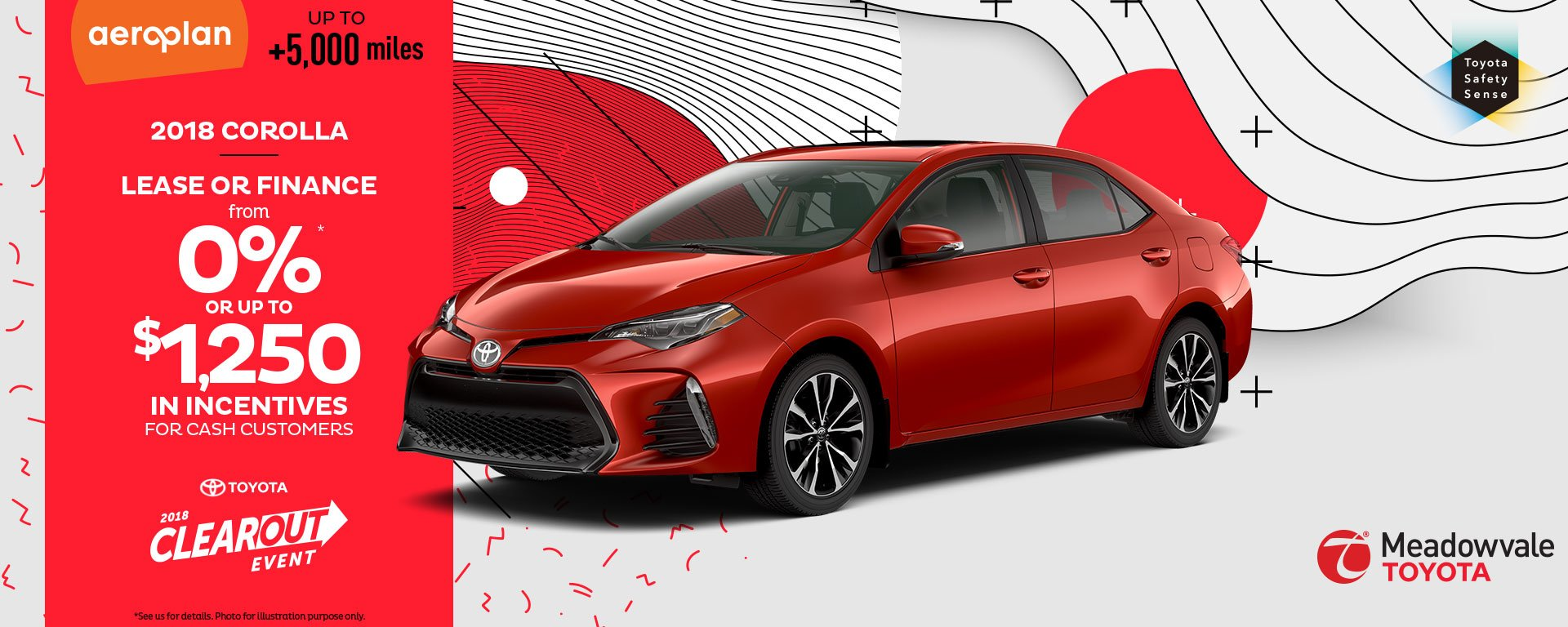 Clearout Event – 2018 Corolla